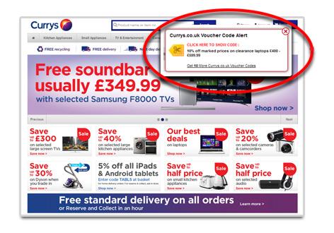 Voucher Alerts as You Shop Online