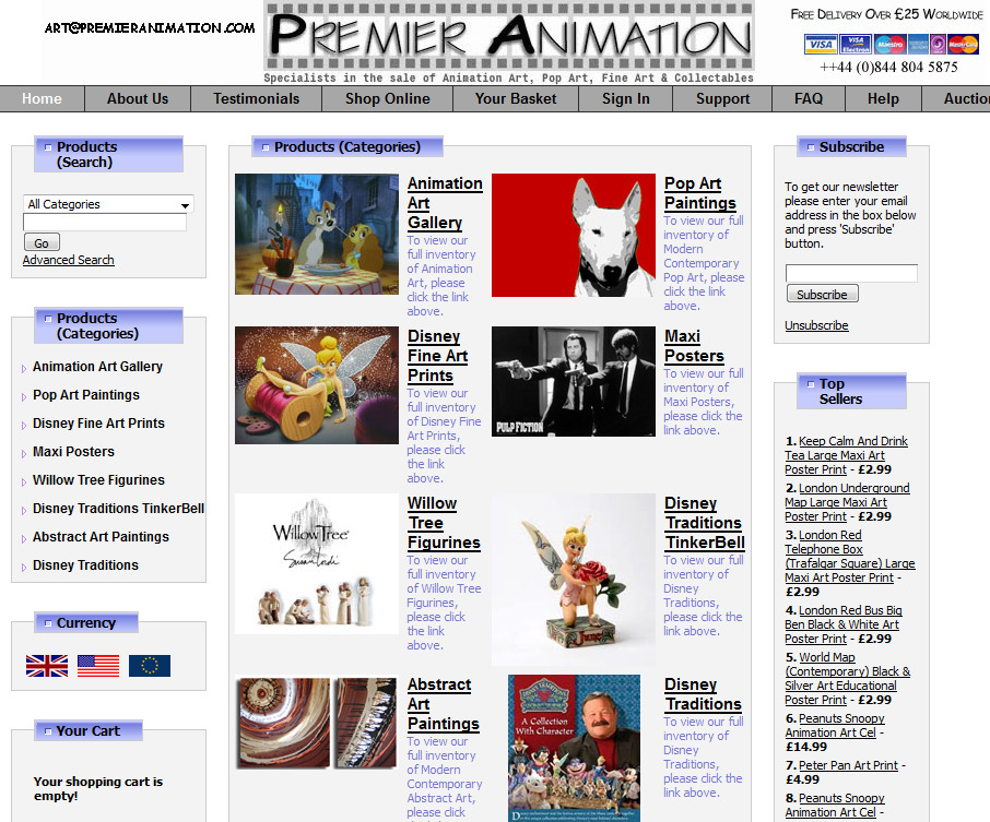 Premier Animation Art Gallery