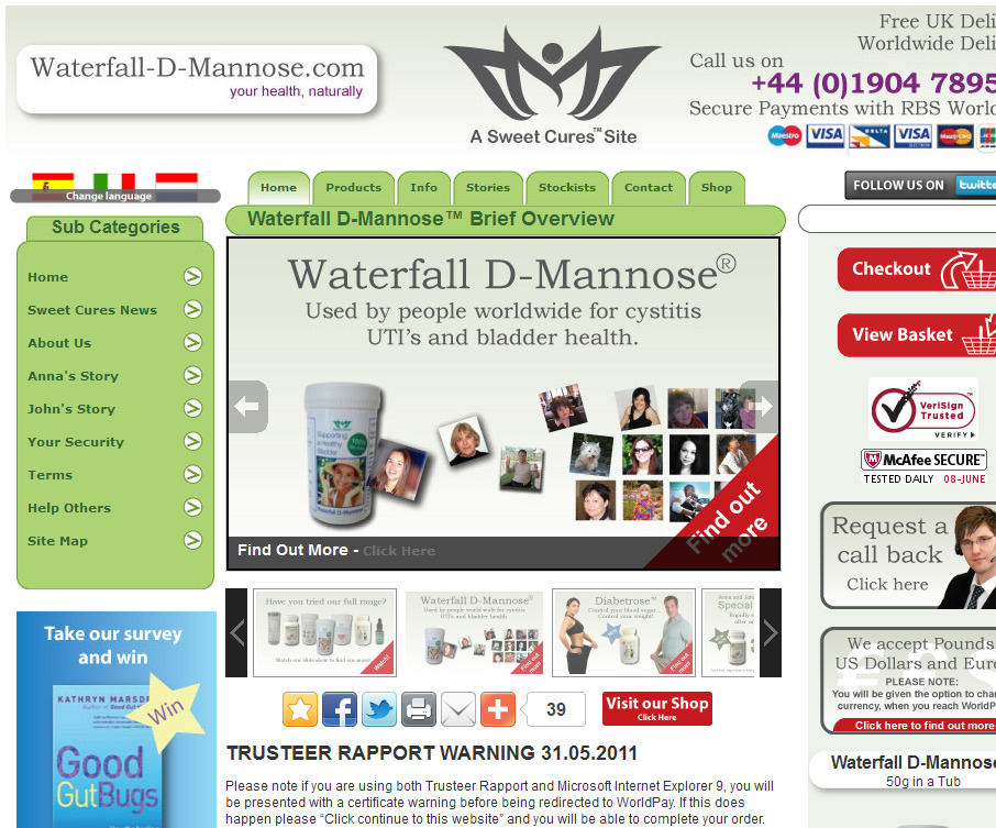 Waterfall D Mannose