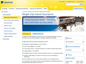Aviva Single Travel Insurance